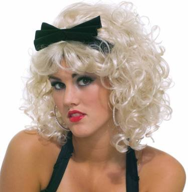 Unknown Women's Short Curly Blonde Wig Costume