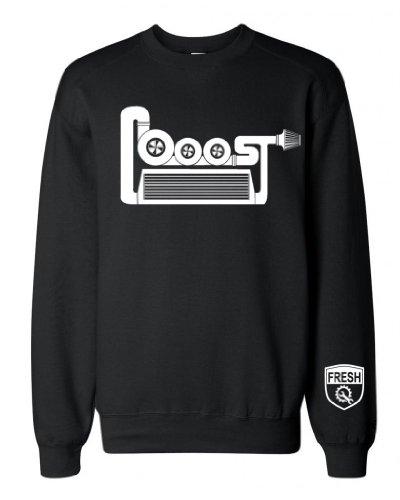 FTD Apparel Men's Boost Turbo intake intercooler Crew Neck Sweater - XL Black (B16 Engine Mount compare prices)