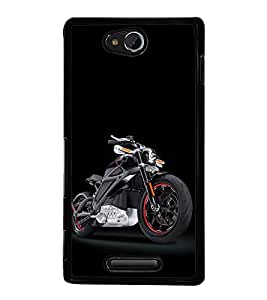 Racing Bike 2D Hard Polycarbonate Designer Back Case Cover for Sony Xperia C :: Sony Xperia C HSPA+ C2305