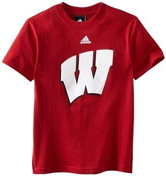 Buy NCAA Wisconsin Badgers 8-20 Boys S S Team Logo Tee by adidas