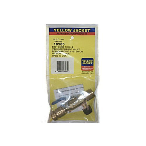 Yellow Jacket 18985 Valve Core Removal Tool with Side Support, 5/16