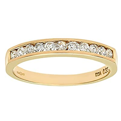 Ariel 9ct Yellow Gold Diamond Channel Set Eternity Ring