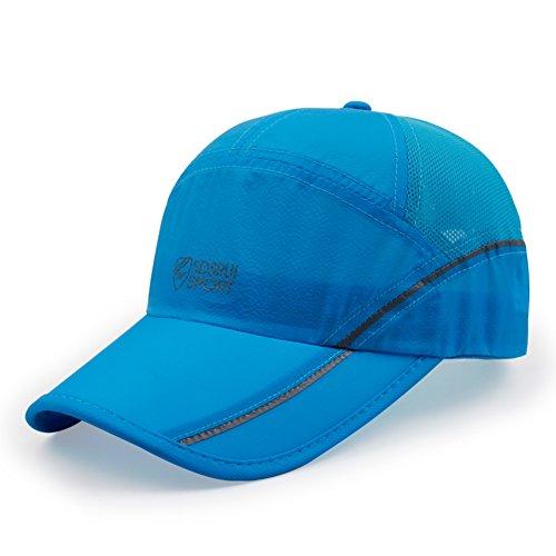 cappello asciugatura rapida M/cappello da sole tempo libero all'aria aperta d'estate/ Sport Parasole/ Equitazione cap sottile pieghevole-G regolabile