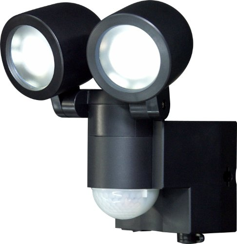 ELPA 乾電池式LEDセンサーライト2灯 ESL-102BT(BK)