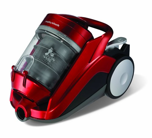 Morphy Richards Never Loses Suction 73240 Family and Pets Bagless Cylinder Vacuum Cleaner 1400 Watt, Red