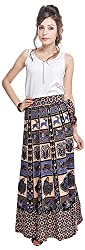 Soundarya Women's Cotton Wrap Skirt (6056, Long)