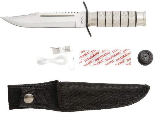 Maxam Silver Fixed Blade Survival Knife [Toy]