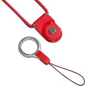 Universal Neck Strap Lanyard for Electronics Accessories CAMERA Cell Mobile Phone - Red