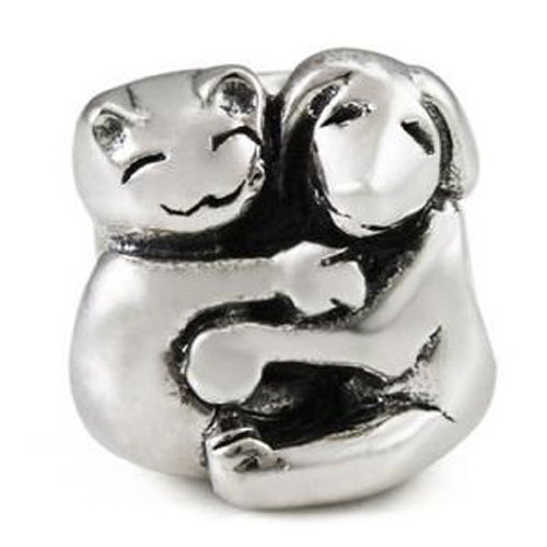 Ohm Sterling Silver Cat and Dog Bead Charm