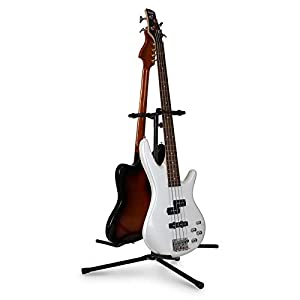 auna duet 2 way guitar stand for 2 guitars powder coated musical instruments. Black Bedroom Furniture Sets. Home Design Ideas