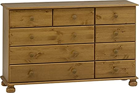 Steens Furniture 3022170034000F/1022170034000N Kommode Richmond, 74 x 121 x 39 cm, Kiefer massiv, braun