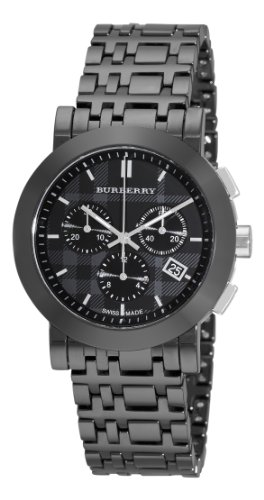 Burberry Women's BU1771 Ceramic Black Chronograph Dial Watch
