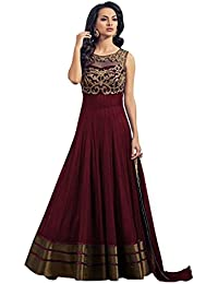 Sancom Maroon Colored Banglori Silk Party Wear Designer Salwar Kameez-SESFSK302013A