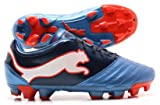 PowerCat 3.12 FG Football Boots Metallic Blue/Black Iris/Orange