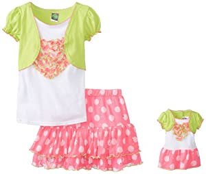 Dollie & Me Girls 7-16 2-Piece Skirt Set with Attached Shrug by Dollie & Me