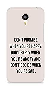 AMEZ dont promise when you are happy Back Cover For Meizum 2 Note