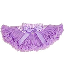 RuffleButts® Infant / Toddler Girls Ruffled PettiSkirt with Satin Bow - Lavender - 0-12m
