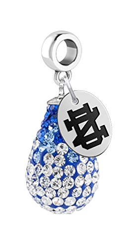 University of Notre Dame Fighting Irish Crystal Dangle Bead Charm - Fits All Bracelets