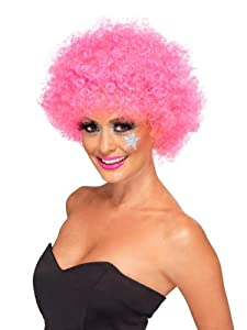 Smiffys Unisex Funky Afro Wig (Pink)