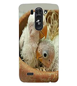 ColourCraft Cute Birds Design Back Case Cover for LG G3 S