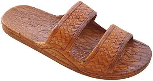 Pali Hawaii Classic Rubber Sandals - BROWN/11