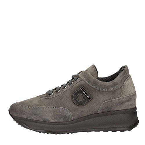 Agile By Rucoline, scarpe donna, 1304 A LEON, sneakers, camoscio,lacci,scarponcino,casual (38, Grafite)