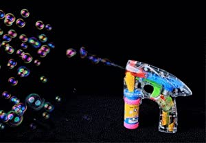 Light up Battery Operated Bubble Gun [Toy]