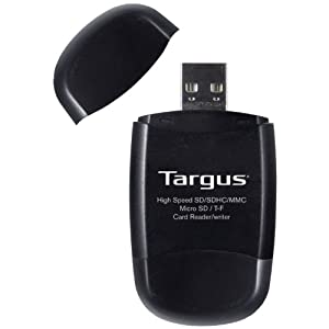 Targus USB 2.0 Secure Digital Card Reader/Writer with Micro SD Slot (TGR-MSD500)