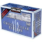 Crystal Clear Cutlery 360 Pieces (180 Forks - 120 Spoons - 60 Knives)