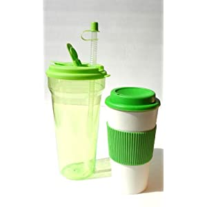Hot Cold Travel Beverage Set 16oz Double Walled Mug