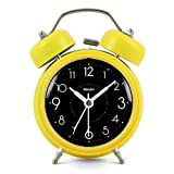 Modern Fashion Lovely Colorful Metal Alarm Clock Yellow 817