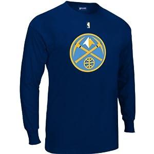 Big Man Denver Nuggets Big & Tall Long Sleeve Logo T-Shirt by Majestic