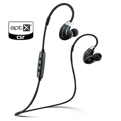 [IPX4 Splashproove, AptX, CVC 6.0 Antibruit] Mpow Seal Airflow Casque Bluetooth stéréo, écouteurs Sport Intra-auriculaire Résistance à la sueur et aux intempéries, Oreillette sans fil, Micro intégré pour iPhone SE, iPhone 6 6s 6 Plus, iPhone 5s 5c 4s 4, Samsung Galaxy S6/S6 Edge S7/S7 Edge S5/S4/S3, Huawei, Wiko et d'autres Appareils Bluetooth