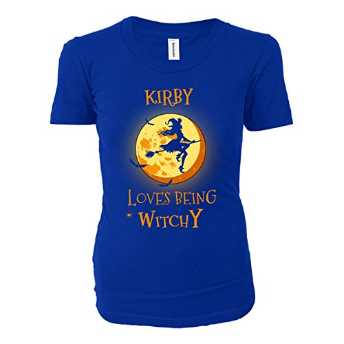 Kirby Loves Being Witchy. Halloween Gift - Ladies T-shirt Royal Ladies L (Kirby Halloween compare prices)