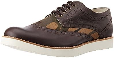 UCB Men's Brown 901 Leather Sneakers -10 UK