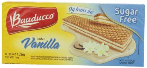 Bauducco Sugar Free Wafer, Vanilla, 4.23 Ounce (Pack Of 24)