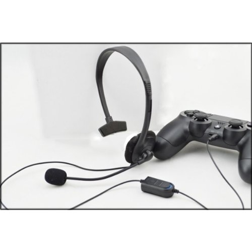Single-Side Adjustable Headband Wired Gaming Headphone With Microphone For Ps4 - Black