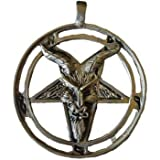 Baphomet Goat Face of the God of Witches with Rune Symbols Pendant Amulet Necklace