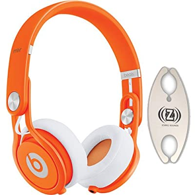 Beats by Dr. Dre Mixr Orange DJ Headphones Carry Pack with Wire Holder