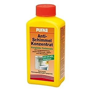 Pufas Anti Schimmel Konzentrat, 0,250 ml Reicht Für Ca 10 Liter Biozid-Produkte vorsichtig verwenden. Vorgebrauch stets Etikett und Produktinformationen lesen