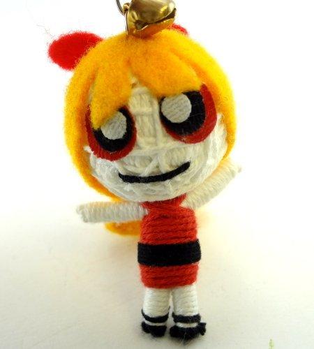 Blossom String Doll Key Chain Handmade Powerpuff Girls - 1