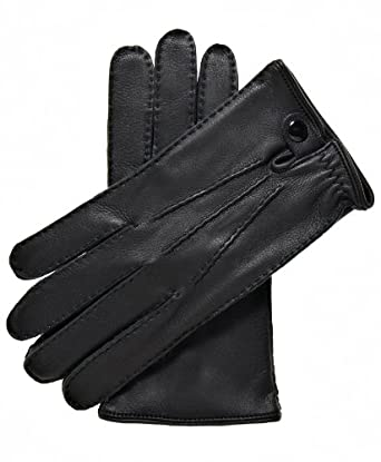 Fratelli Orsini Men's Italian Cashmere Lined Deerskin Gloves Size 7 Color Black