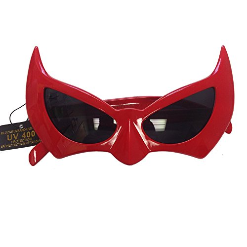 Batman Sunglasses Red Batgirl Catwoman Bat Cat Style Superhero Costume