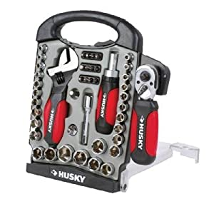 Husky 45-Piece Stubby-Handle Combination Wrench and Socket Set: Work in Tight Areas