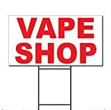 Vape Shop Red Corrugated Plastic Yard Sign /Free Stakes 18 x 24 inches Two Sides Color