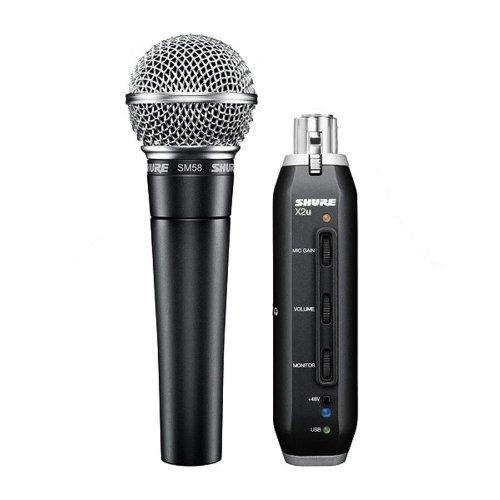 Shure SM58-X2U Cardioid Dynamic Microphone  X2U
