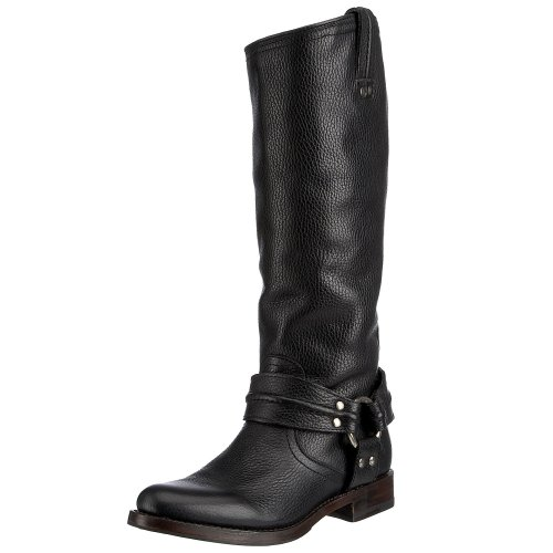 Frye Women's Maxine Trapunto Hrns Boot Black 77952BLK9 7 UK D