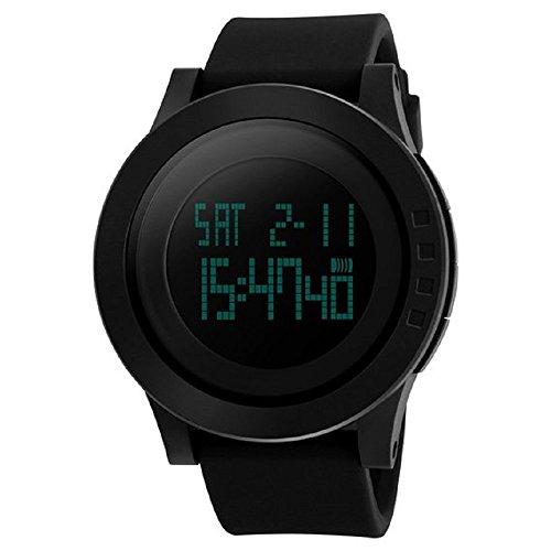 Megadream Men Digital Military Quartz Sports 50M Waterproof Watch w/ EL Back Light, Calendar, Stopwatch (Waltham Mens Watch compare prices)