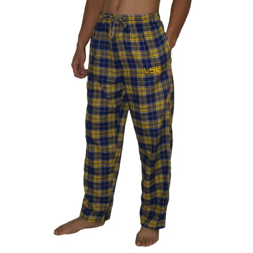 NCAA Mens LSU Tigers Fall / Winter Plaid Sleepwear / Pajama Pants - Multicolor (Size: M) at Amazon.com