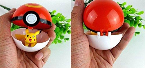Pokémon Go Poké Ball with Pikachu Mini Figure Toy Anime Action Figure